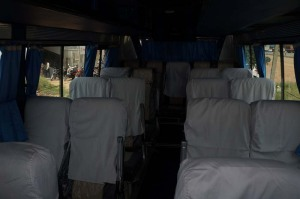 21 seater luxury mini bus inside view