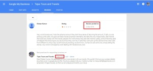 tejas travels fake review and respond